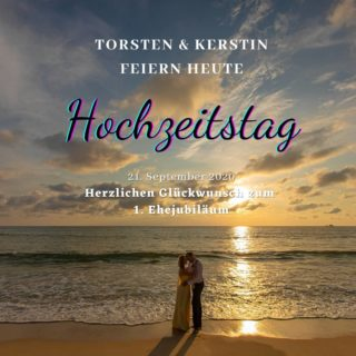Herzlichen Glückwunsch und alles Liebe zu eurem 1. Hochzeitstag  #phuketweddingservice #germancelebrant #beachwedding #strandhochzeit #heirateninthailand #weddingphuket #realwedding #thaiwedding #phuketweddingplanner #weddinganniversary #Hochzeitstag